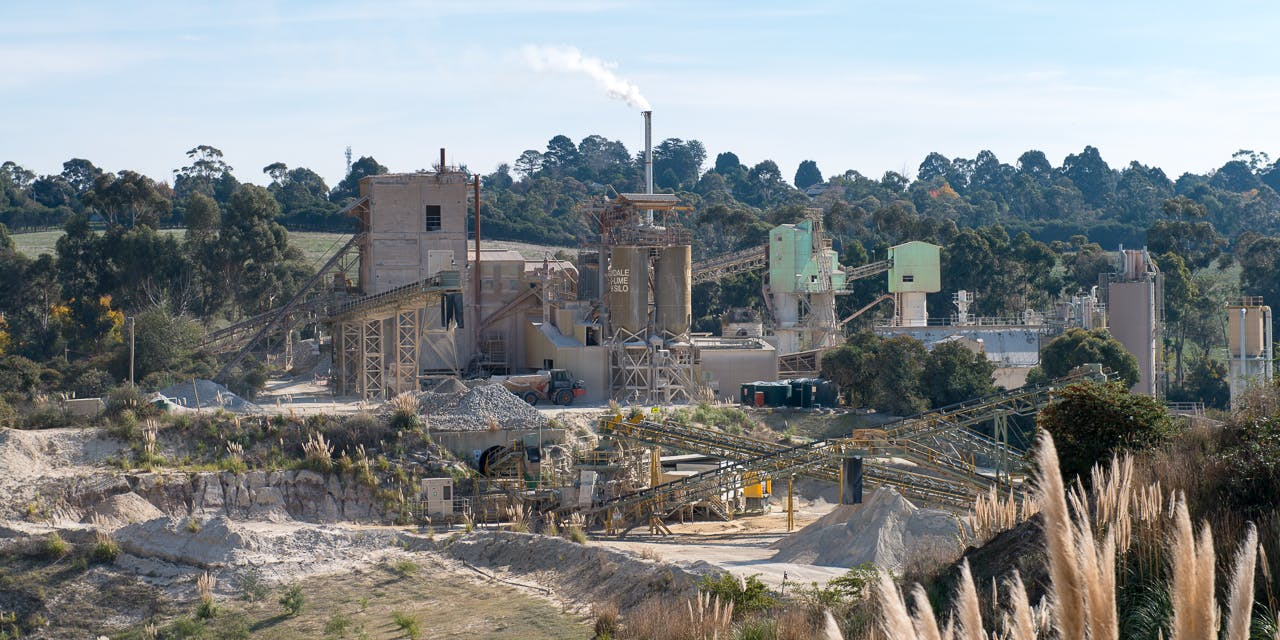 Lilydale Quarry processing plant