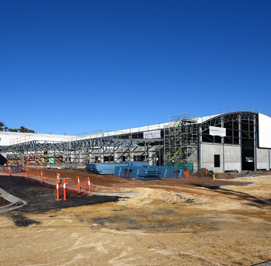 Work on the Port Macquarie Regional Indoor Stadium officially started in December 2015 at an event attended by Mayor Peter Besselling, Councillors, Federal Member for Lyne Dr David Gillespie MP and members of the community