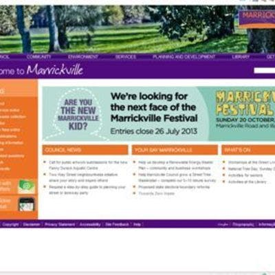 Marrickville Council website home page