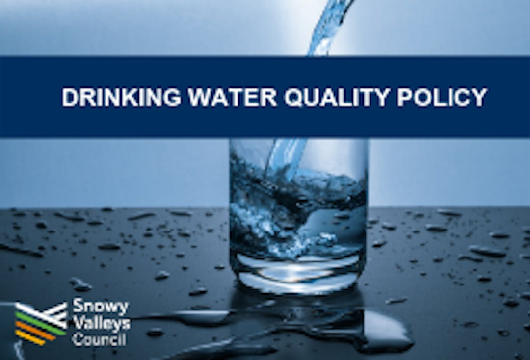 Drinking water quality policy front page