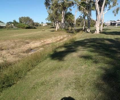 Existing creek reserve