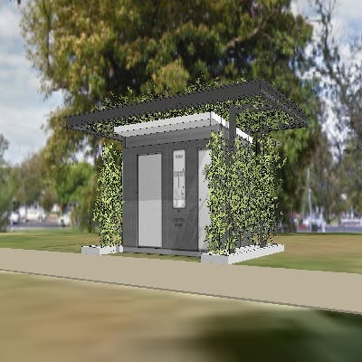 Hurtle square proposed toilet logo