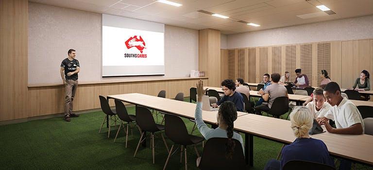 Heffron Centre Souths Cares classroom artist impression.