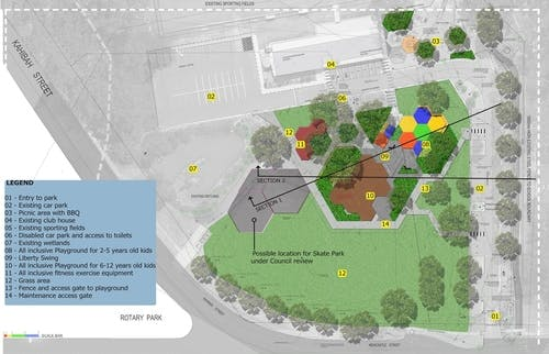 Bernie Goodwin Memorial Reserve Layout