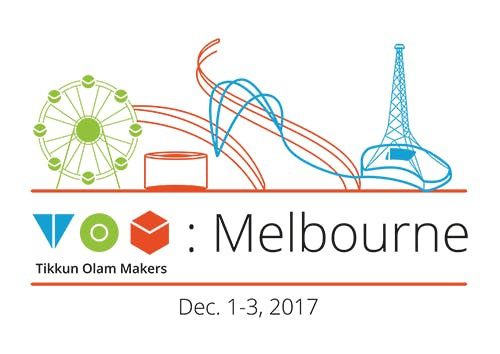 TOM Melbourne logo: Tikkun Olam Makers Melbourne Dec 1- 3, 2017