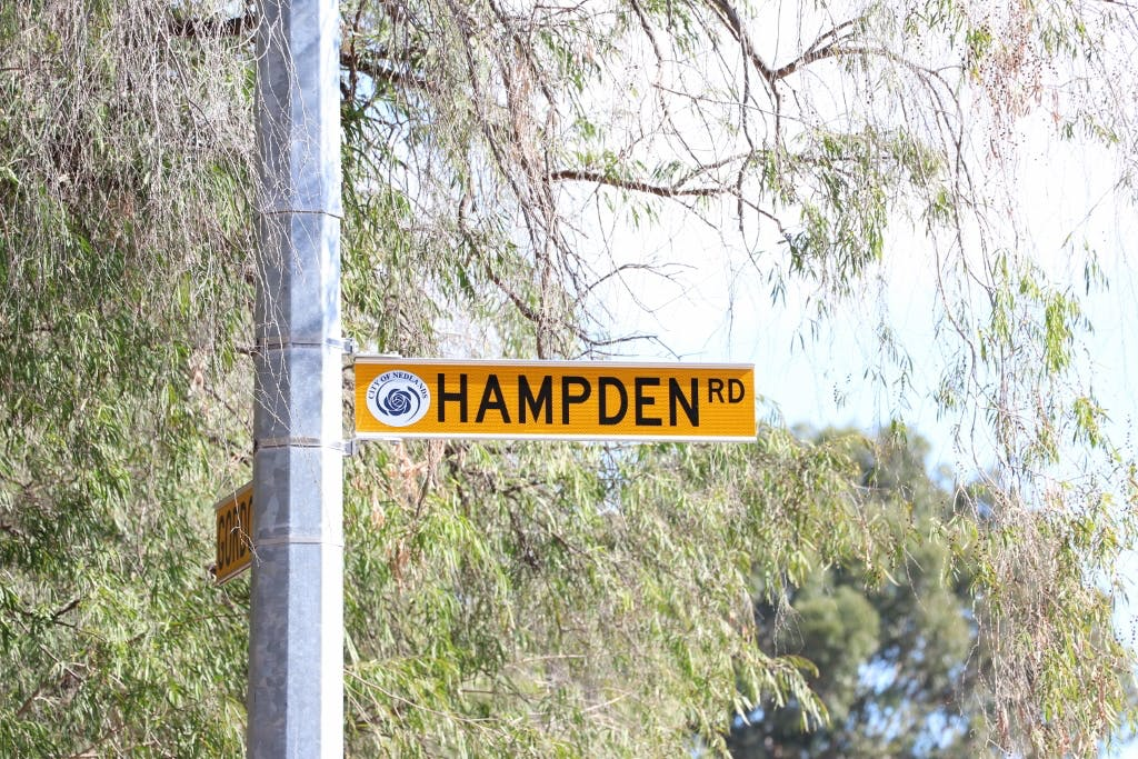 Hampden Road street sign