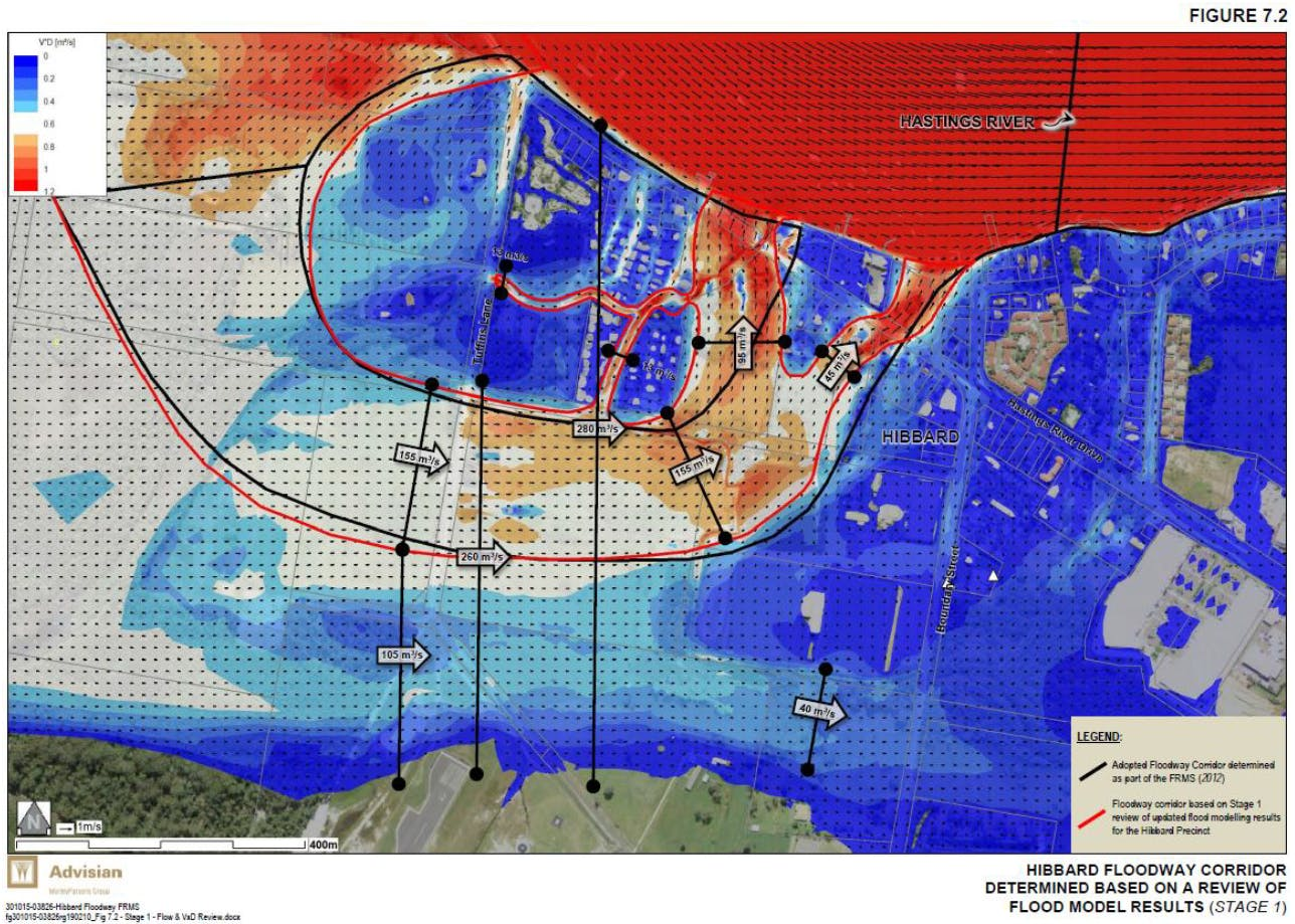 Floodway Analysis Results Based On Refined Flood Model.