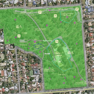 Aerial view of Hazelwood Park