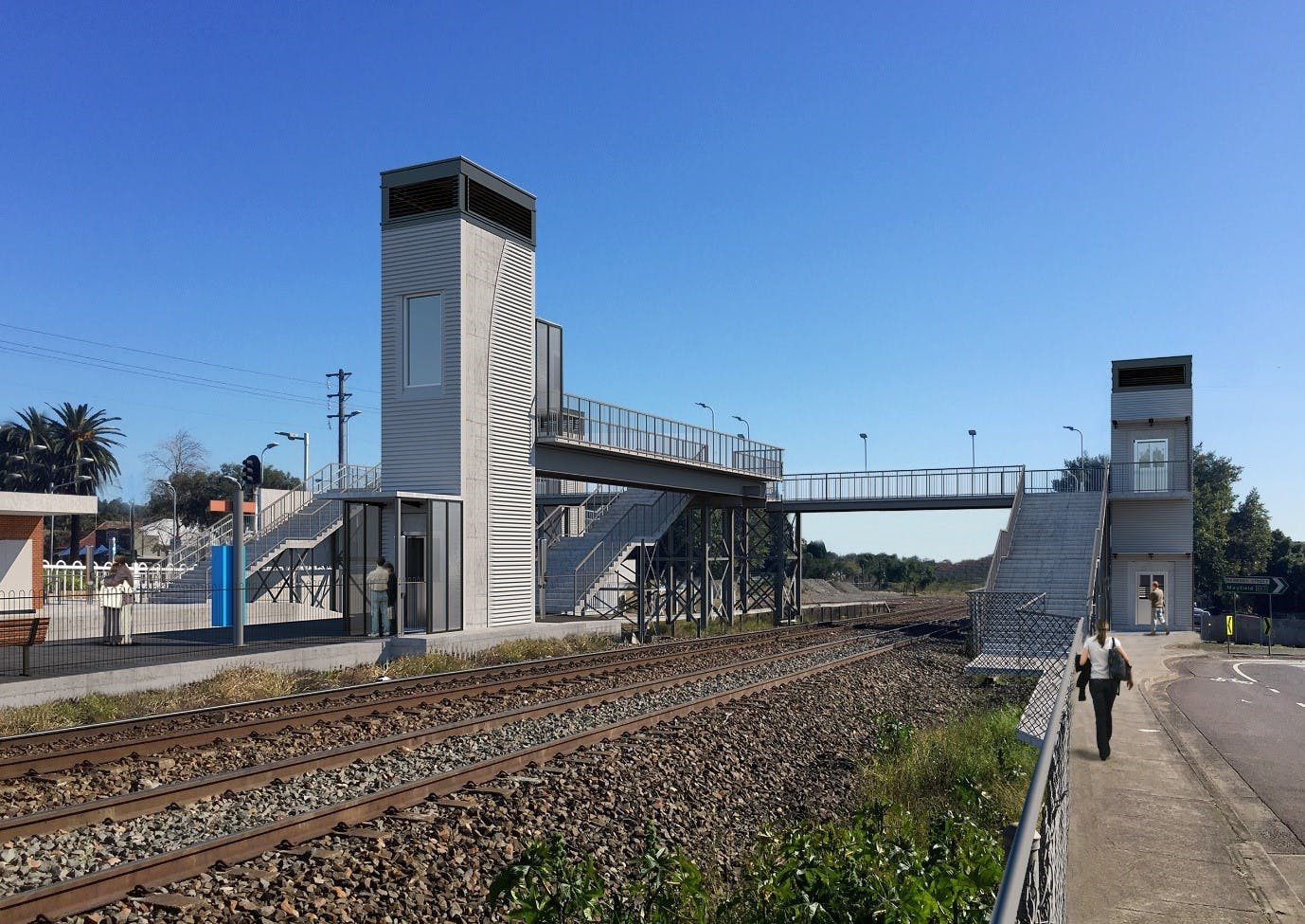 Artist's impression of the Waratah Station Upgrade, subject to detailed design.
