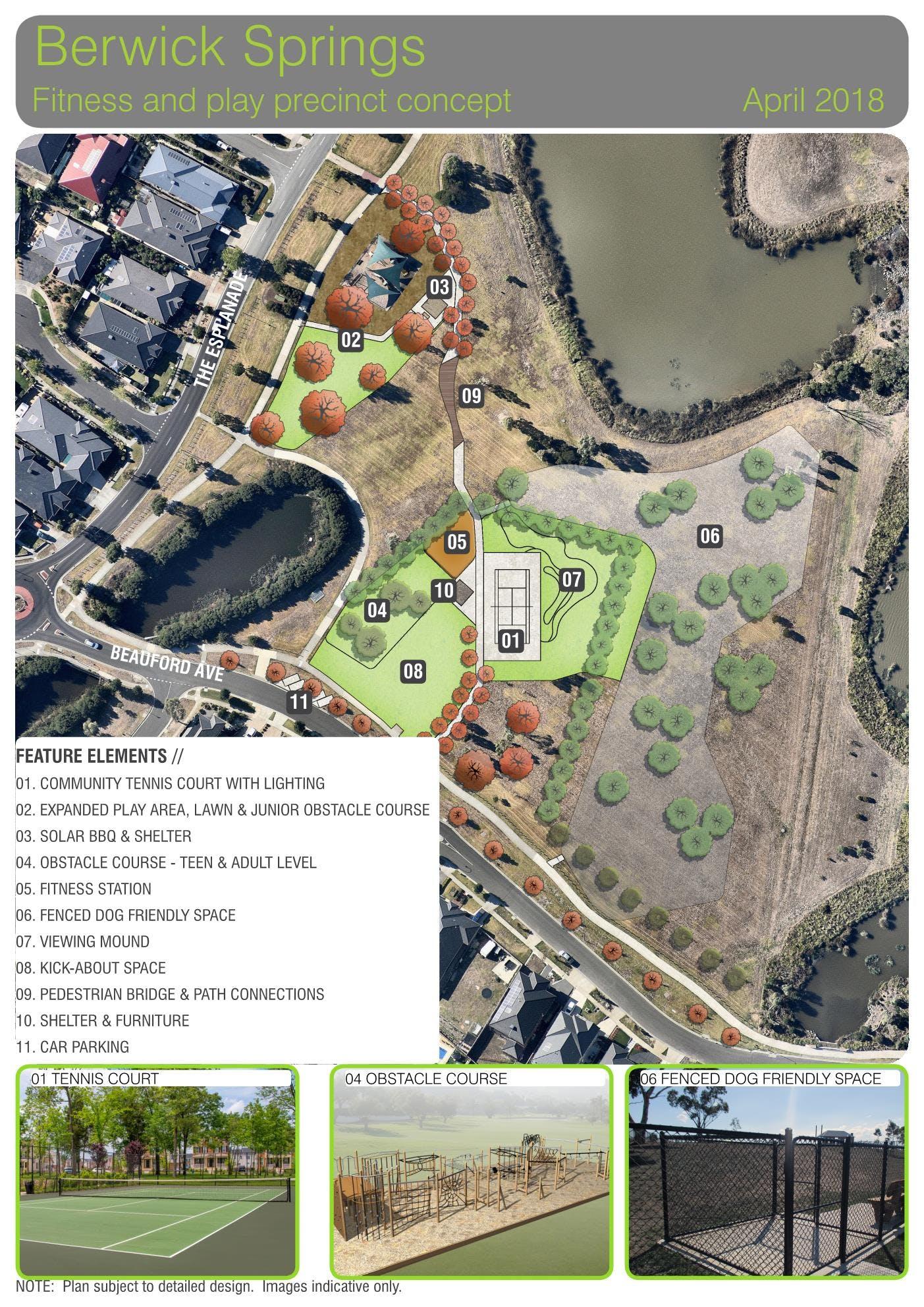 Berwick Springs Reserve Concept Plan