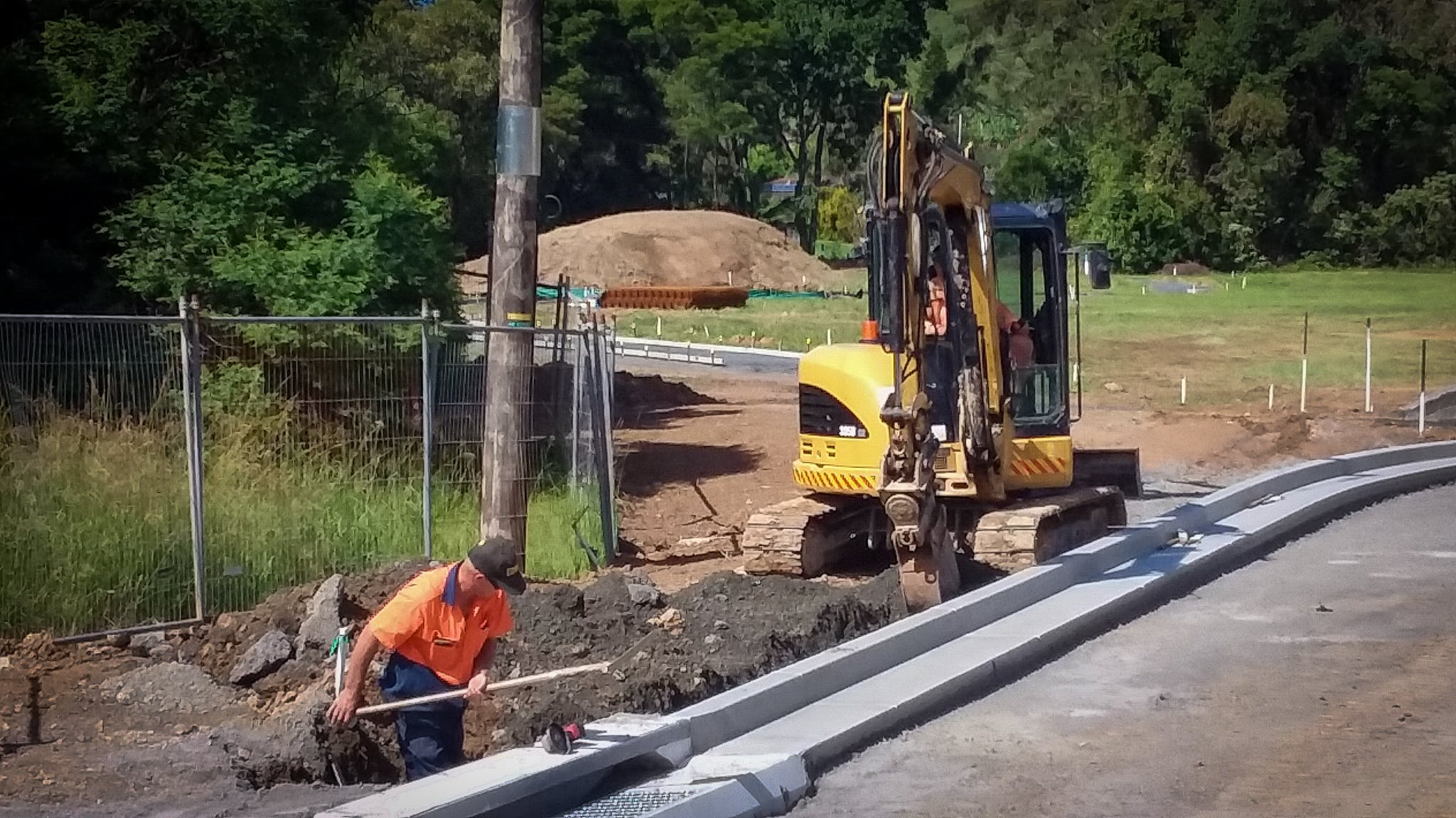 Civil works under way in April 2019