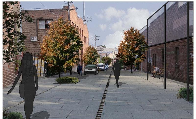 St Peters  - MDCP 2011 master plan image (Applebee Street shared zone streetscape)