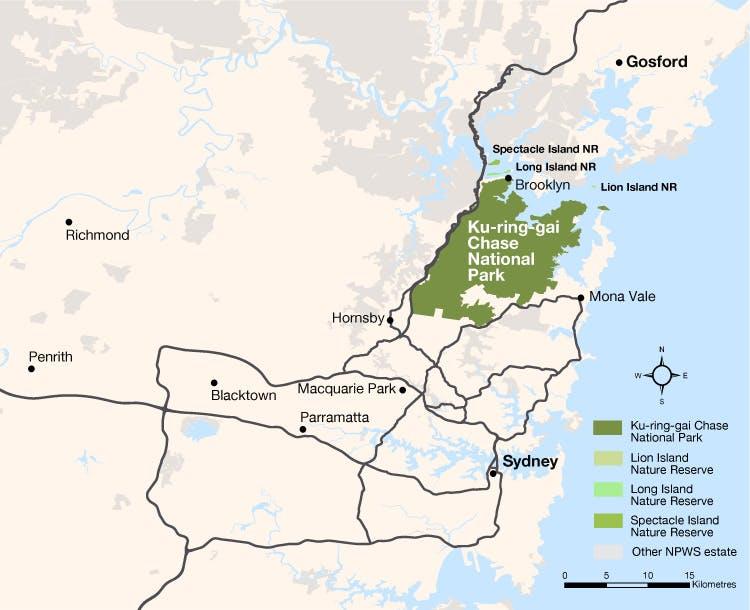 Ku-ring-gai Chase National Park Map