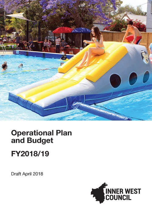 Draft Operational Plan and Budget 2018-19 - cover