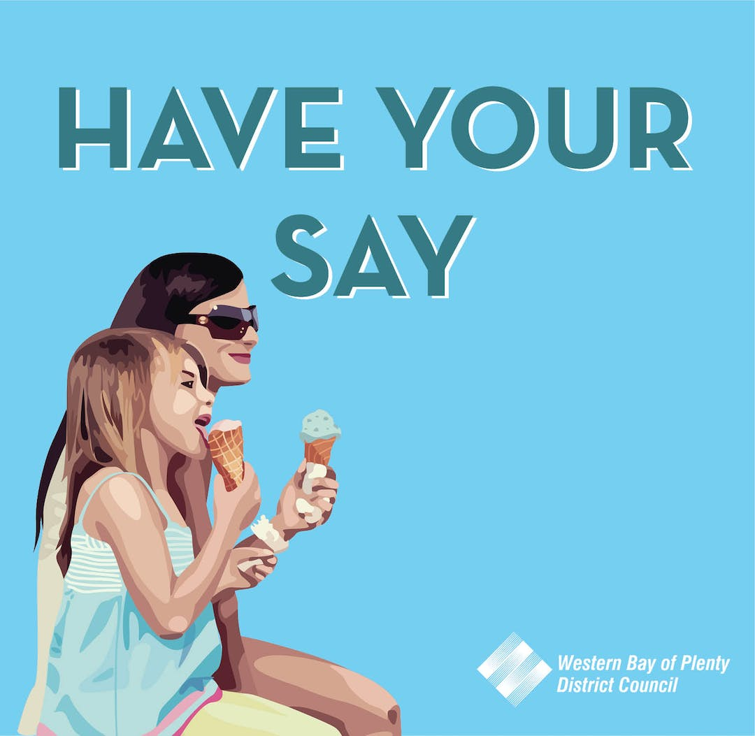Have your say image of two females enjoying eating ice cream.