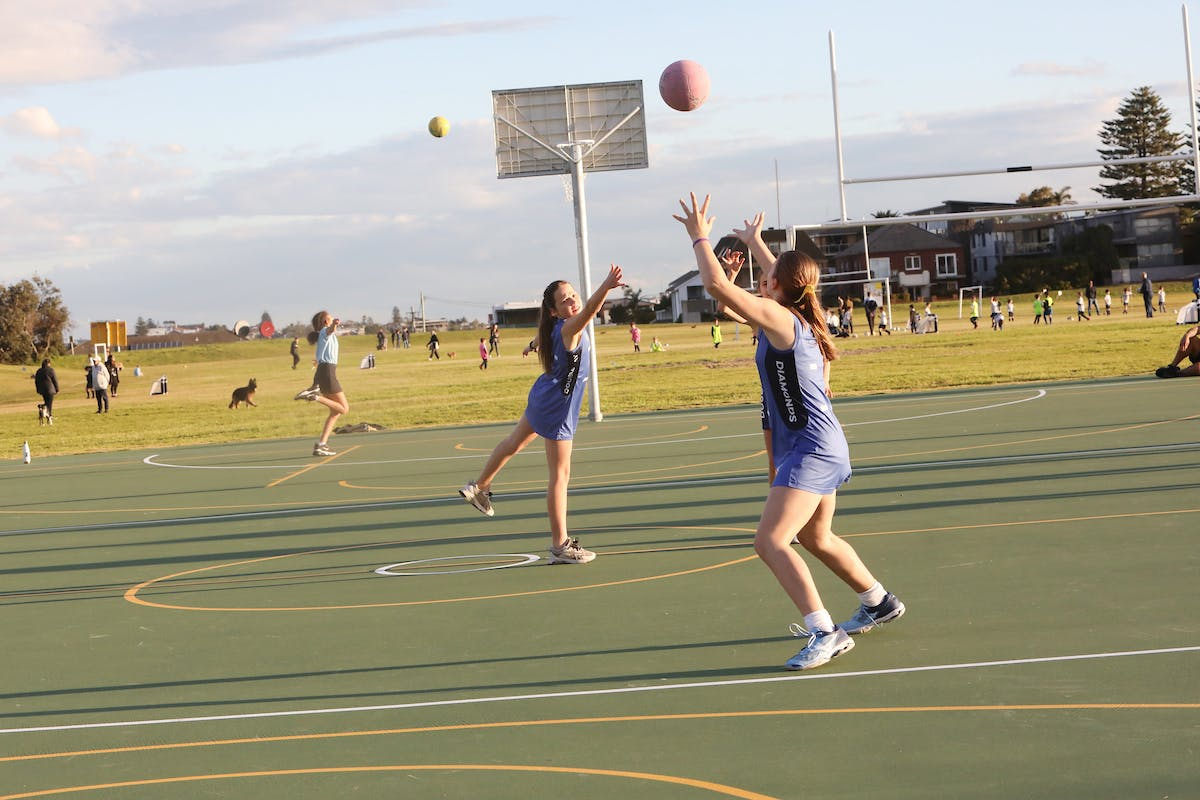 New multi-purpose courts in action