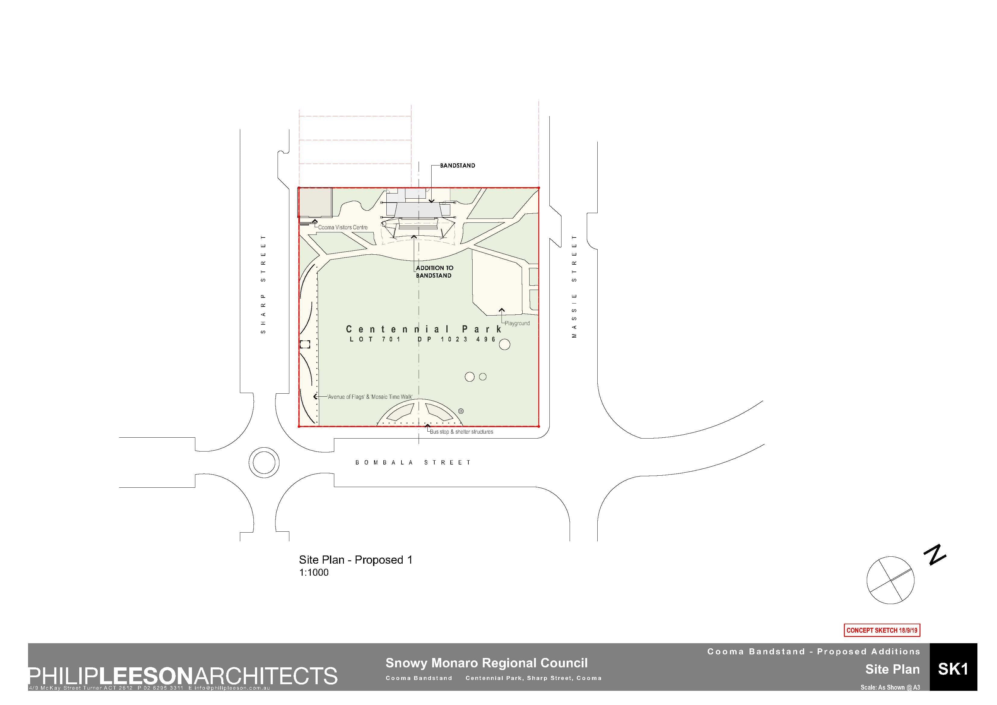Cooma Bandstand - Proposed Additions_190918 Concept Sketch_1