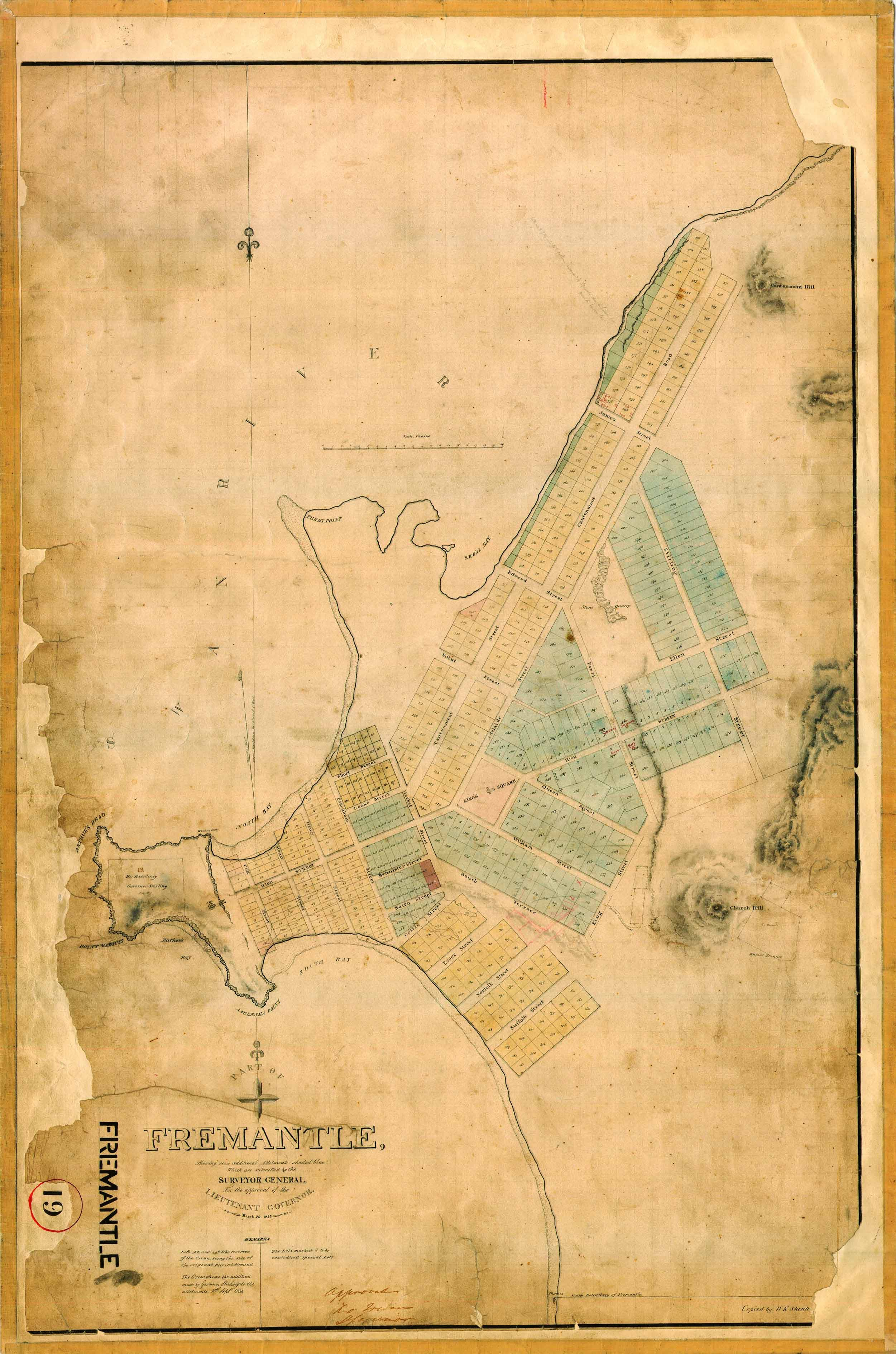 1833 Town Plan