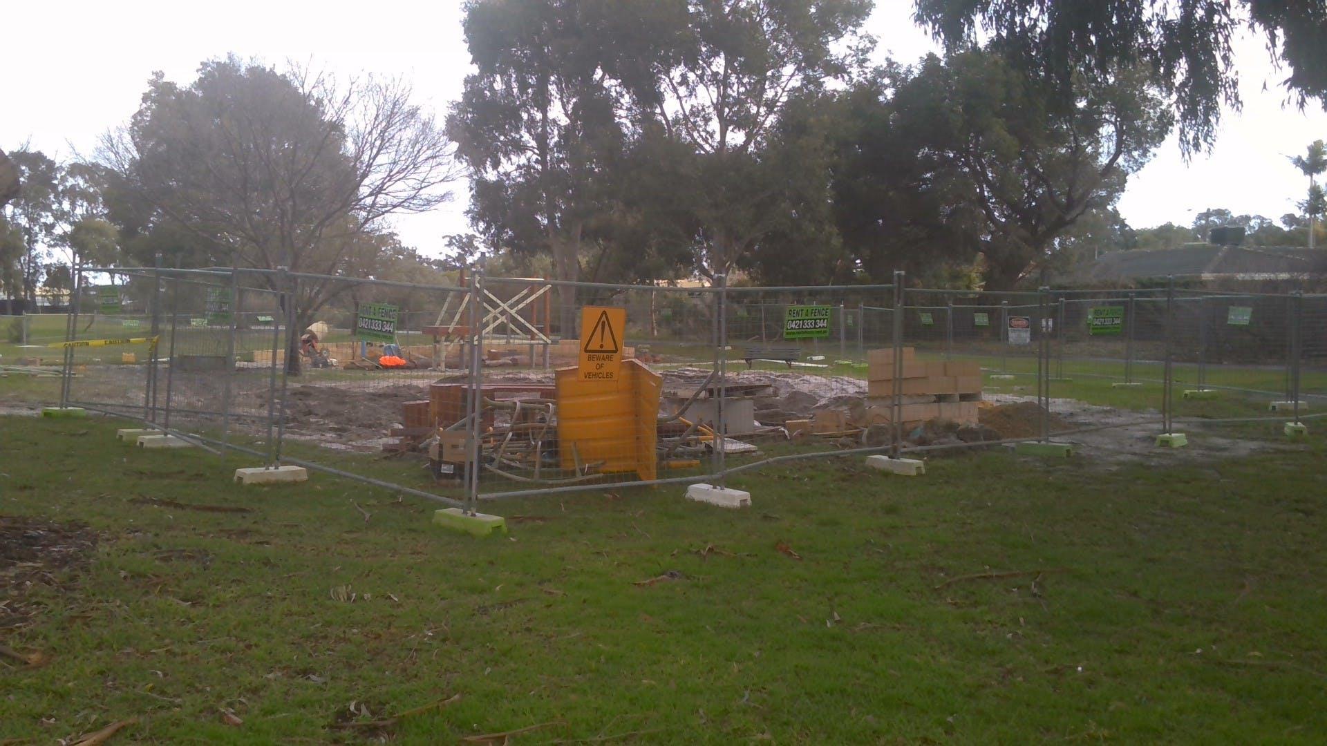 Kennon Park playground construction 5