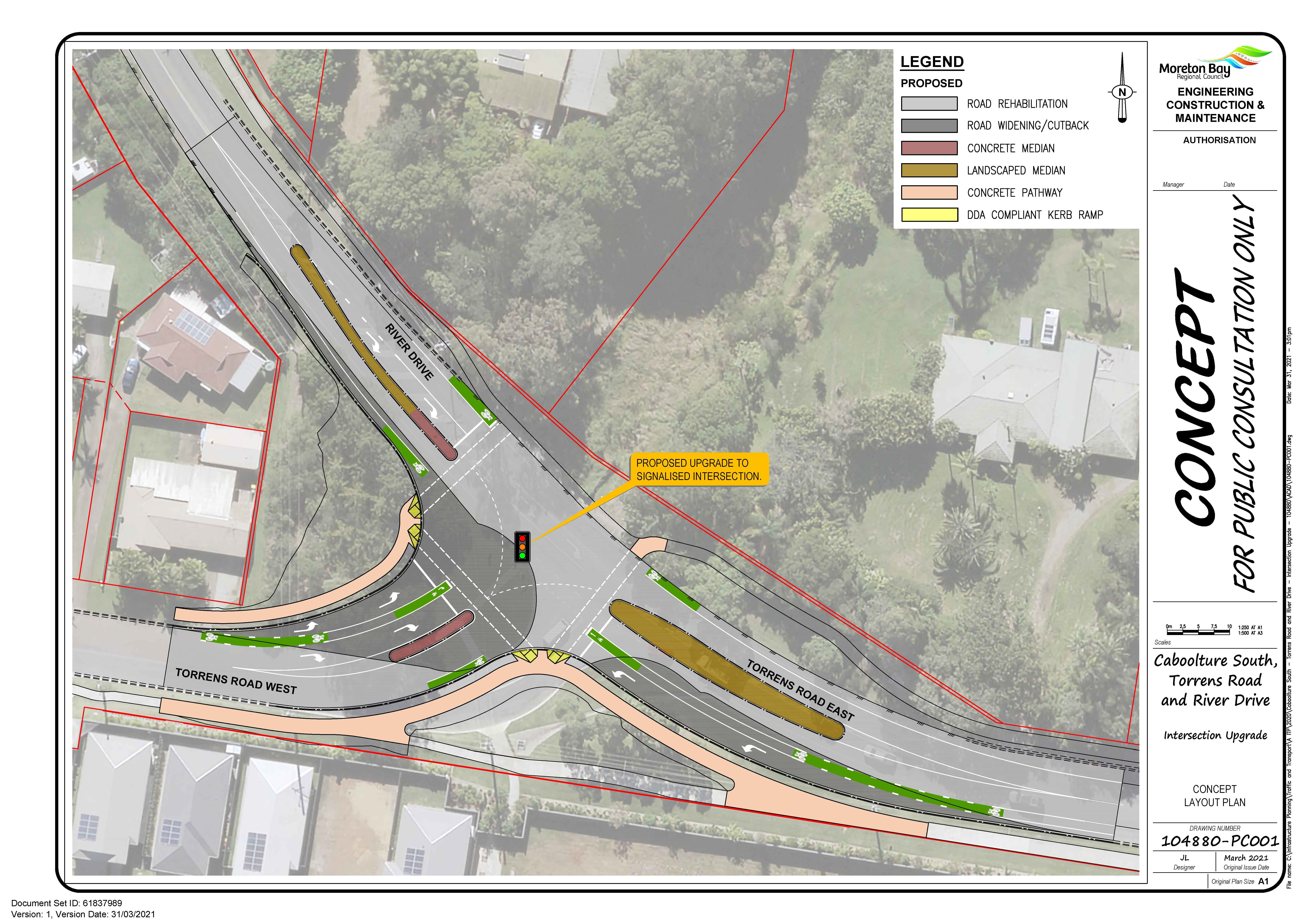 Concept Plan - Intersection of Torrens Road and River Drive, Caboolture