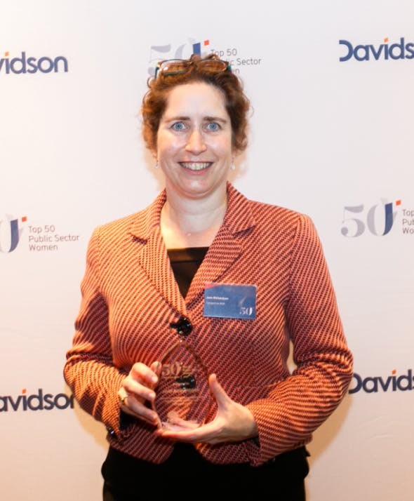 Jane with her NSW Top 50 Public Sector Women award