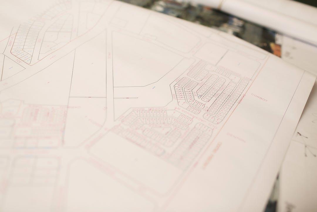 Subiaco   admin building   paper documents street plans   april 2014