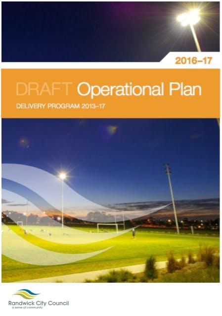 Draft Operational Plan 2016-17