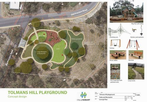 Tolmans Hill playground concept 28 Sep 17