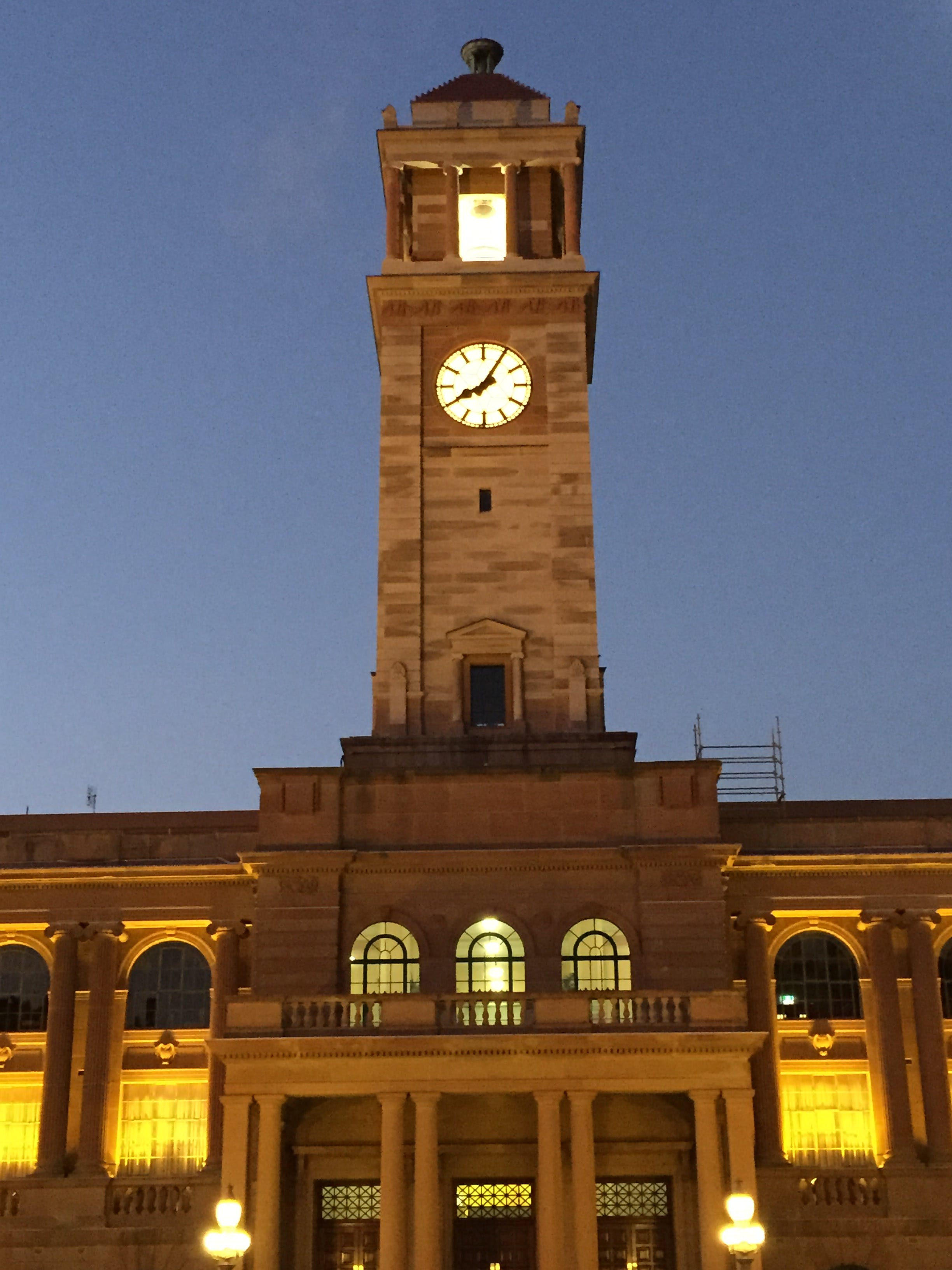 Image of City Hall and the clock tower.