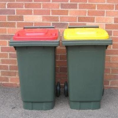 Weekly garbage and recycling collection