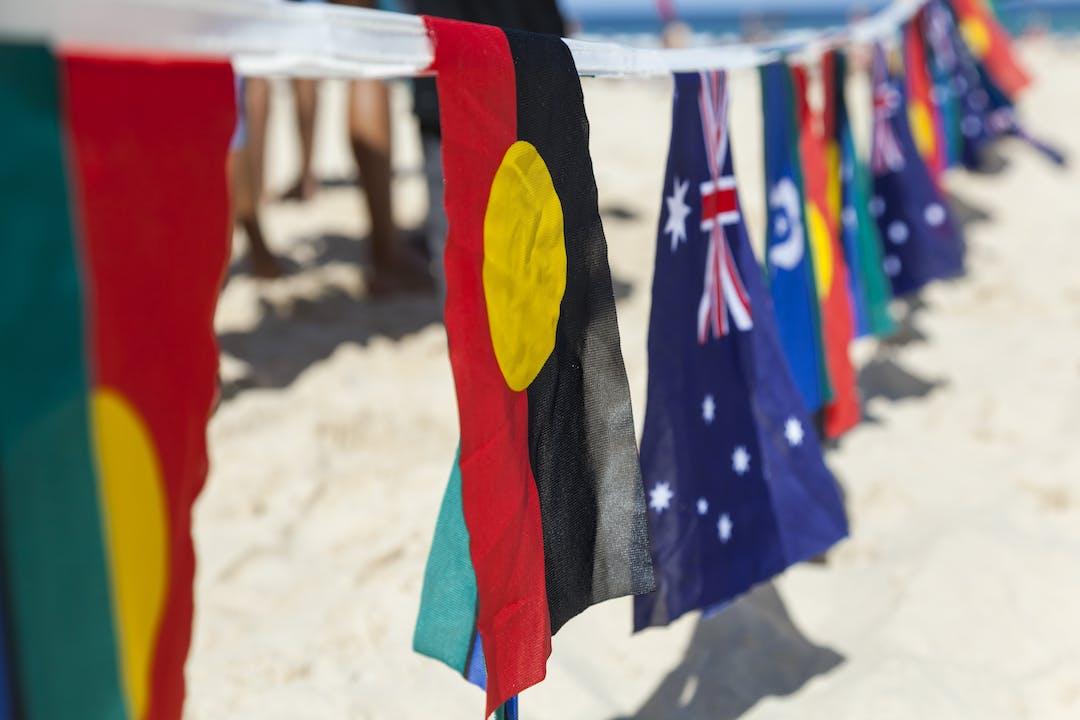 Flags on Bondi Beach