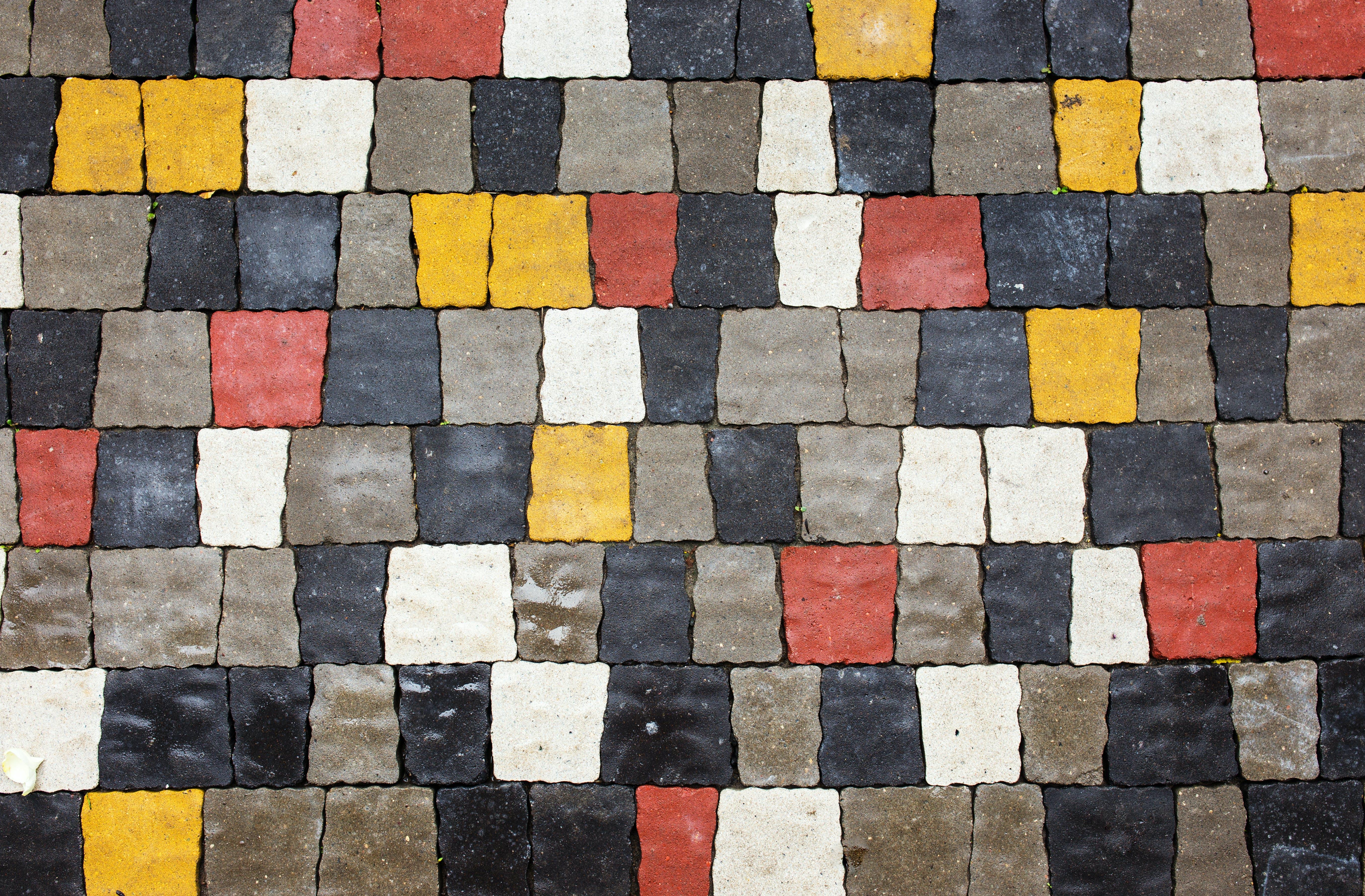Decorative treatment on footpath