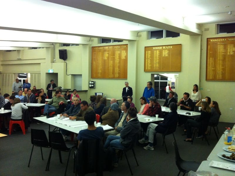 Community meeting 22 October 2012