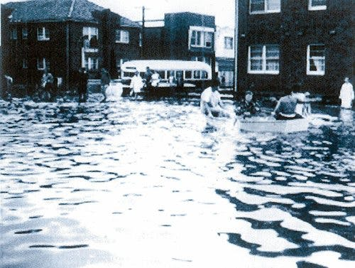Maroubra flood. 1959