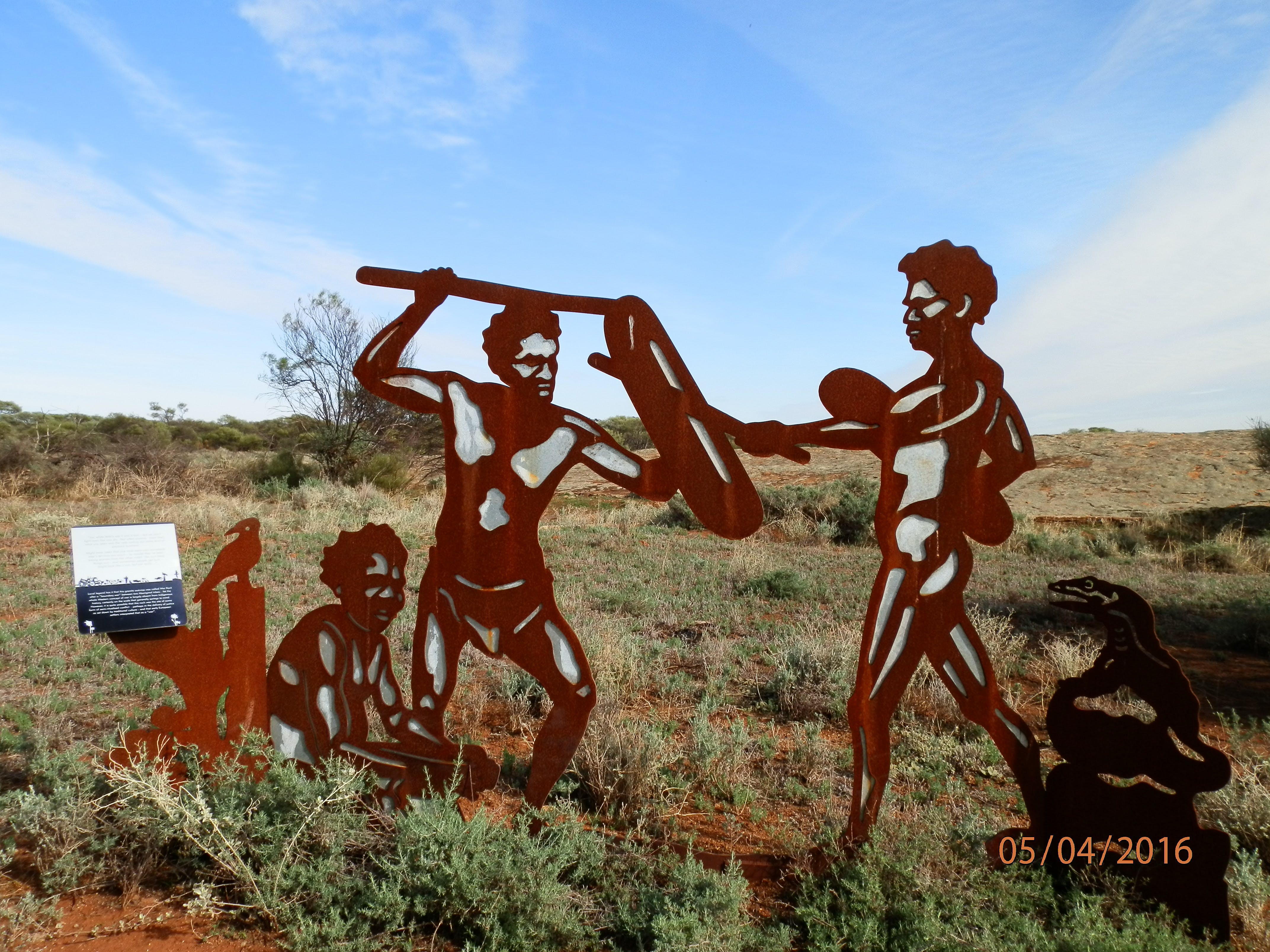 Wildflower Way artworks, War Rock
