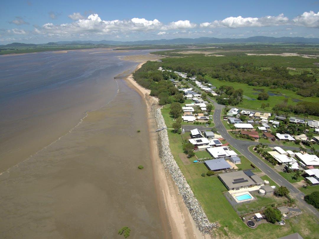 McEwens Beach - aerial