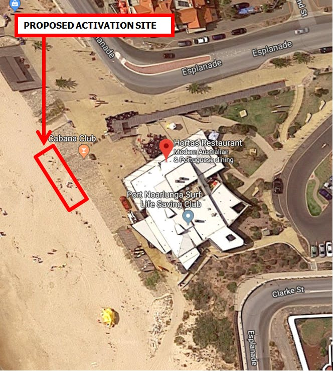 Location Map   Port Noarlunga   Cabana Beach Club