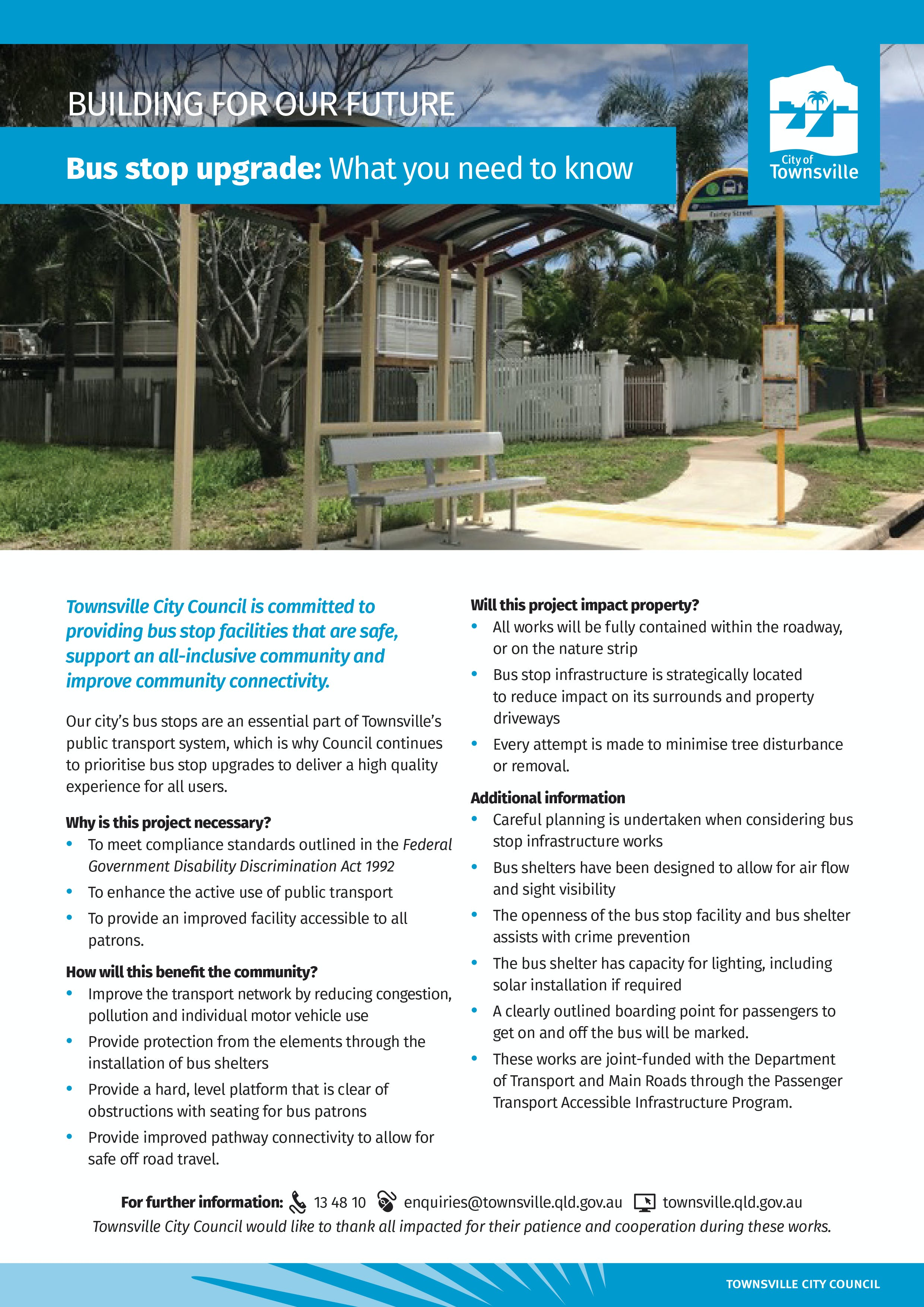Bus Stop Upgrade Program Factsheet