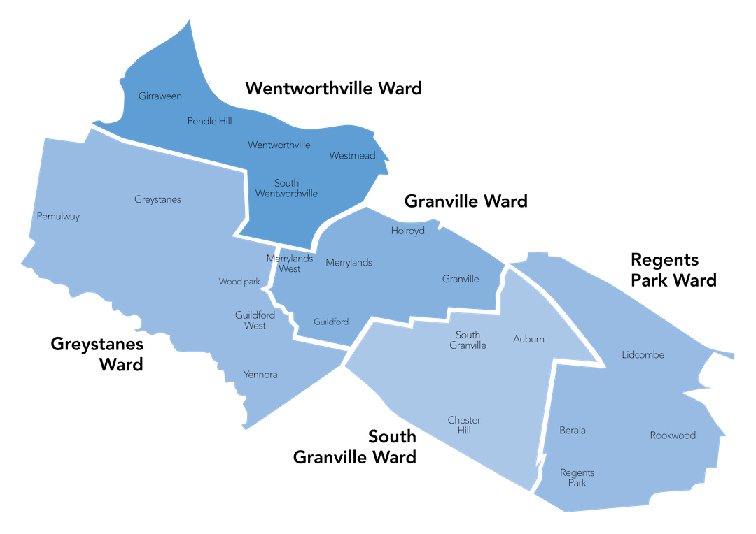 Cumberland map with wards