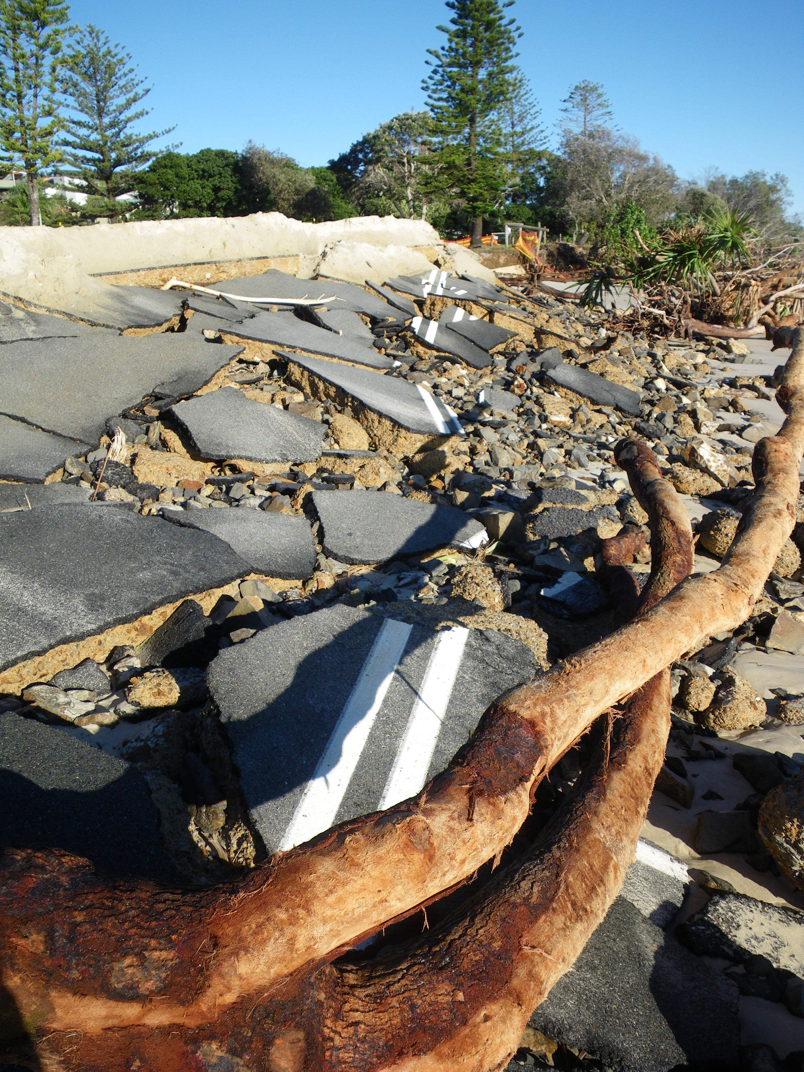 Severe erosion of Kingscliff Beach and foreshore.