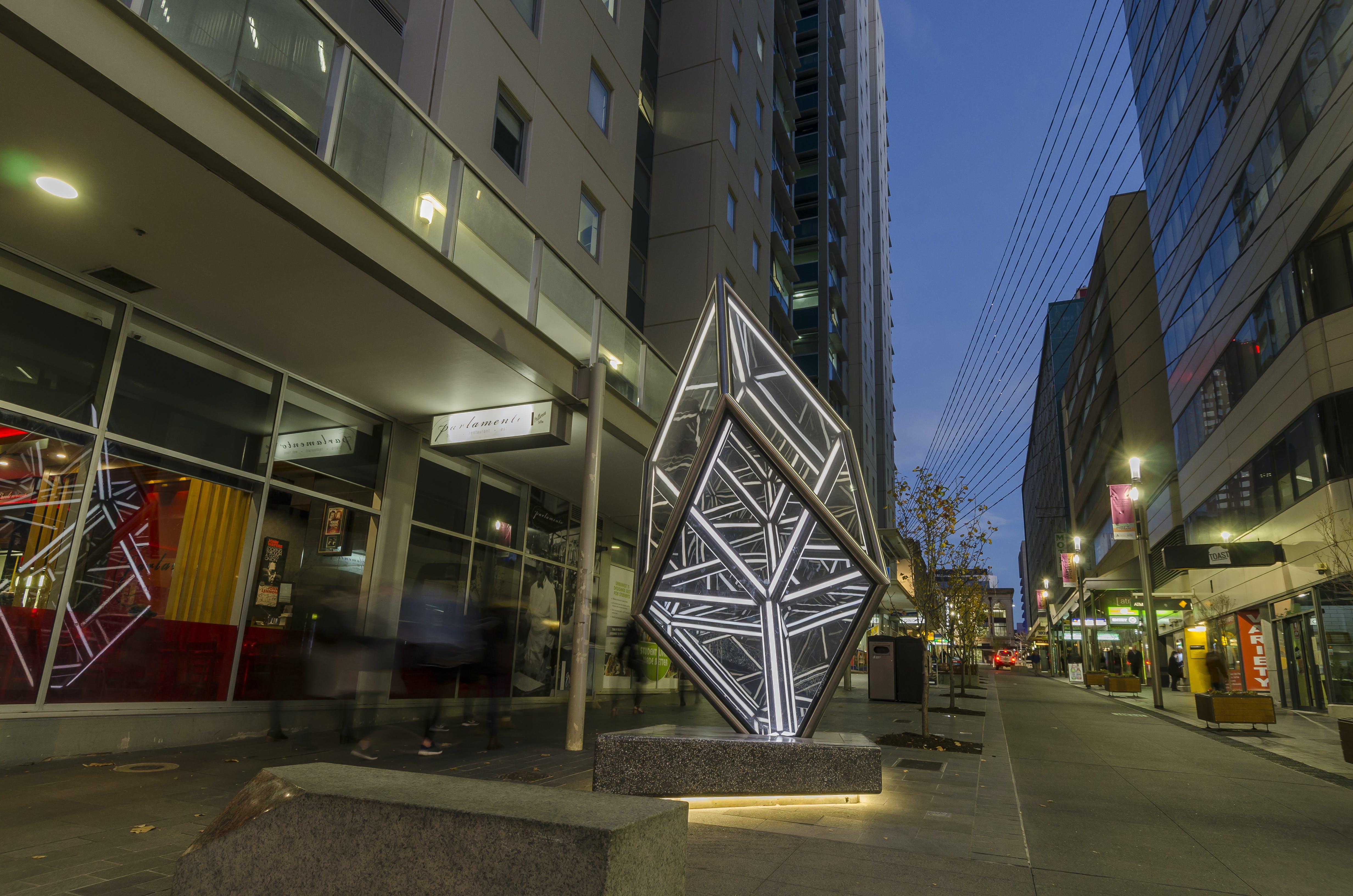 Golden Rhombohedron (Jason Sims, 2017)