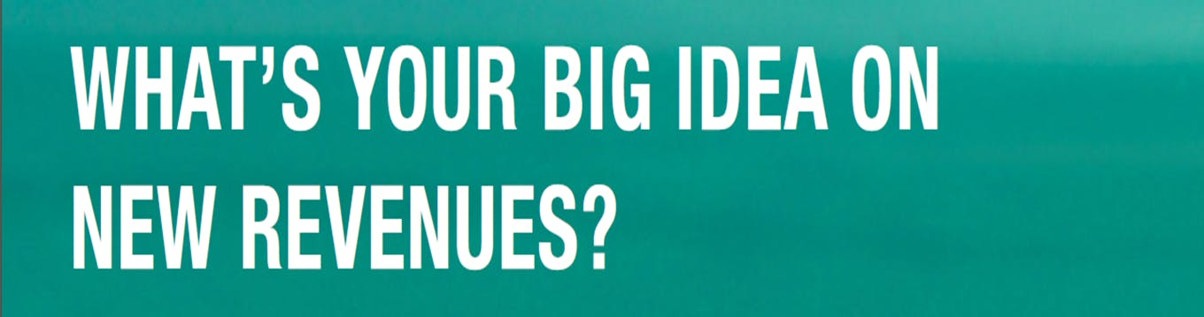 What's your big idea on new revenues?