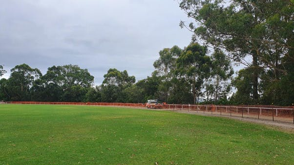 Boundary fence works underway