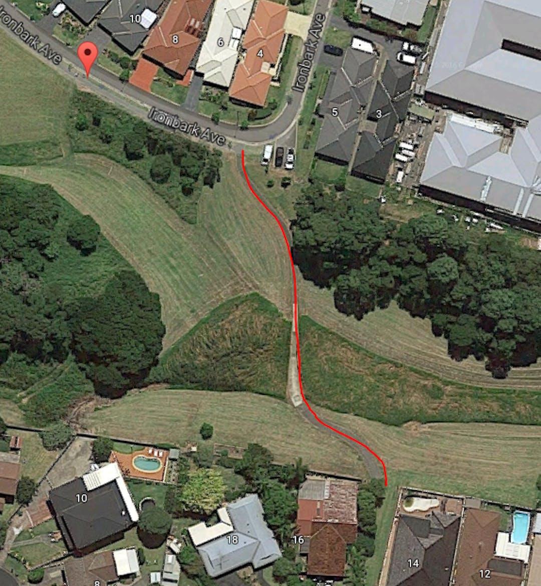 Detention basin halley crescent woonona location photo