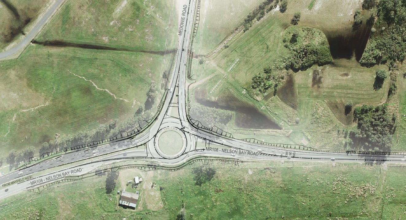 Drawing of new intersection at Williamtown
