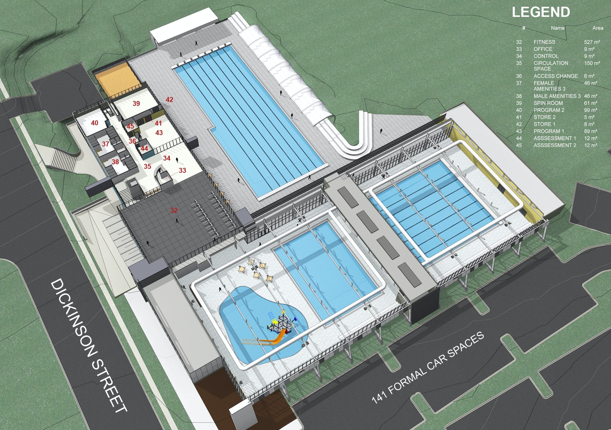 Charlestown Leisure Centre proposed first floor concept