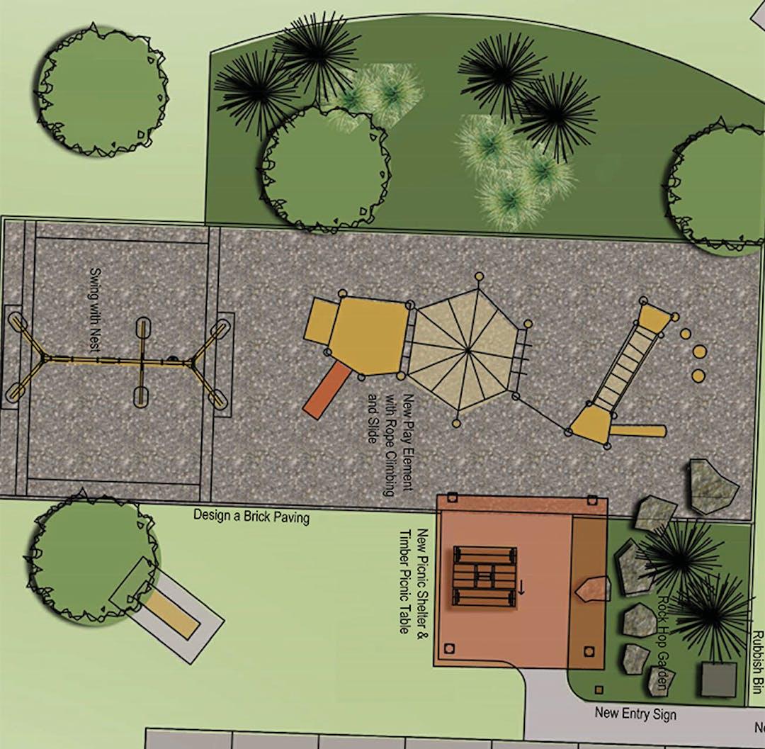 Pioneer Park Playground concept