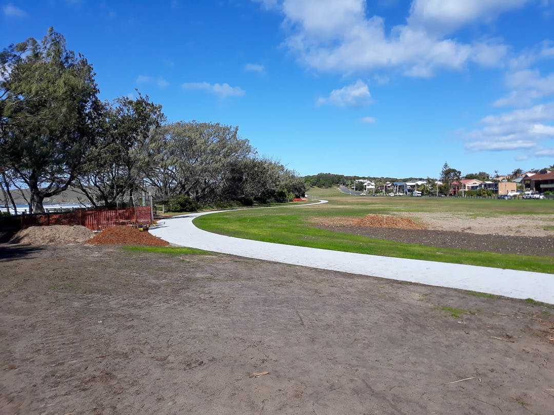 The southern section of Stage 1 of the footpath/cycleway