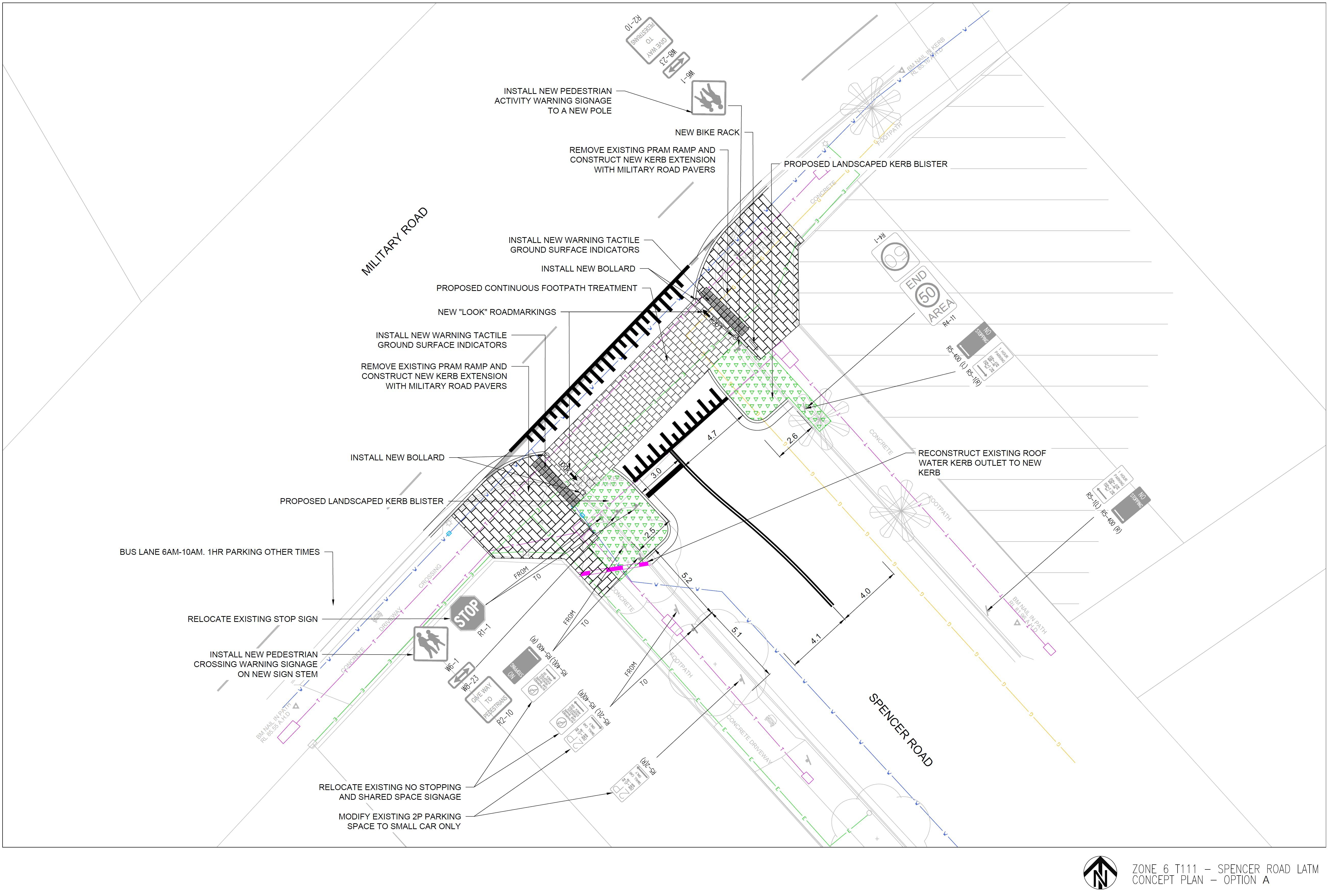 Spencer Road Option A - 2D Design