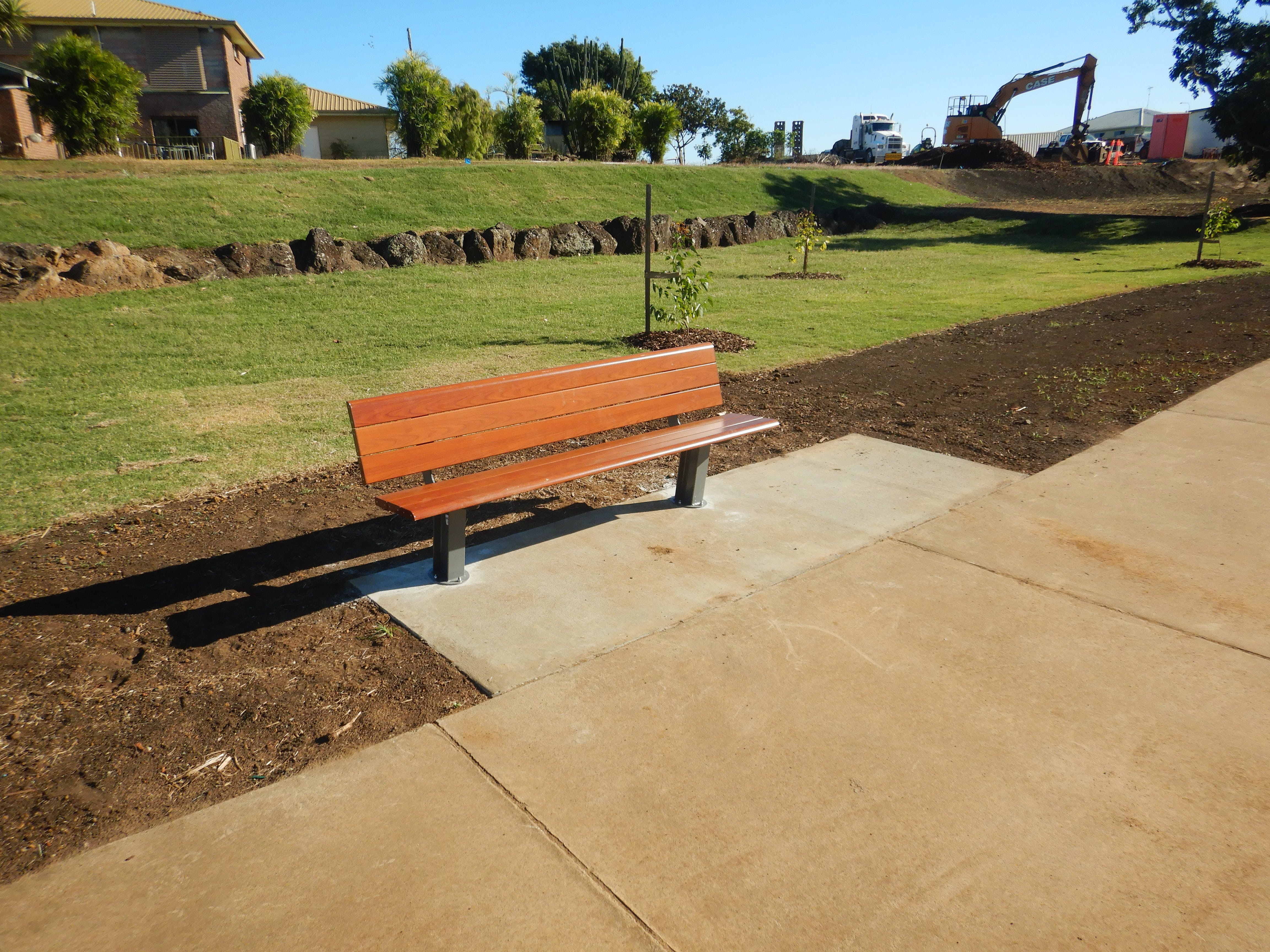 New bench seat with all abilities and pram access